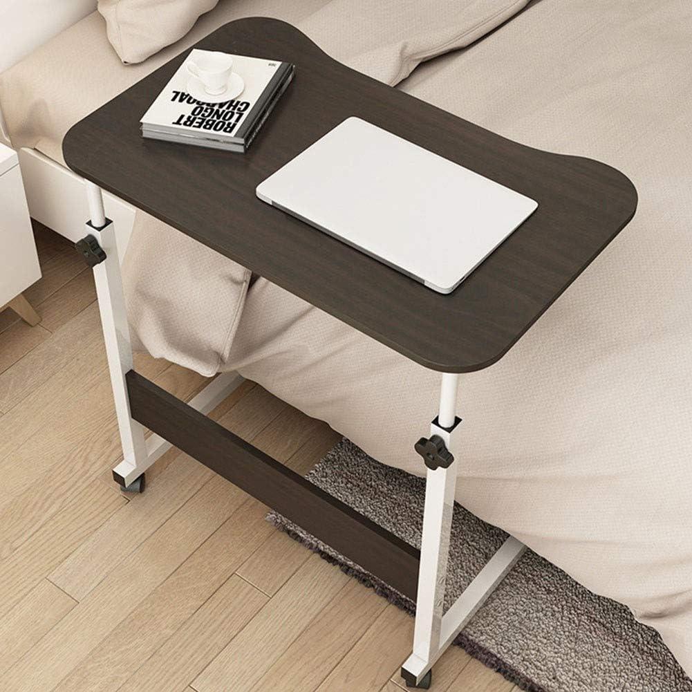 ベッド・多機能ベッドトレイ、高さ調節医療ベッドサイド、可動コンピュータデスクソファ表でホイール・家庭用ラップトップテーブル (Color : A)