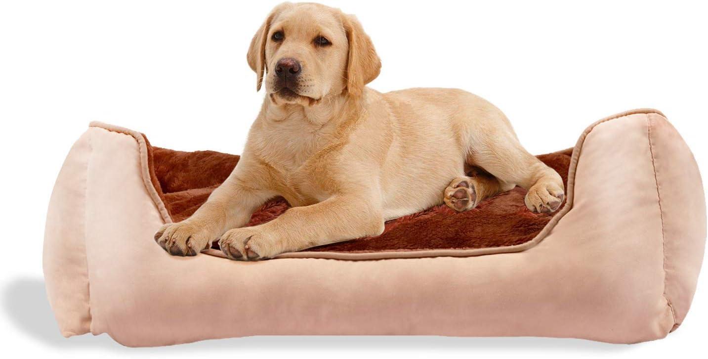 BIGLUFU Casa Cómoda para Mascotas, Cama para Perros, Sofá para Perros (L, Marrón)
