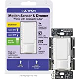 Lutron Maestro LED+ Motion Sensor Dimmer Switch | No Neutral Required | MSCL-OP153M-WH | White