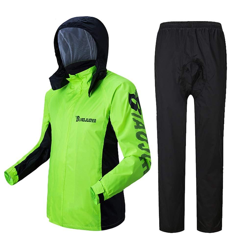 Geyao Raincoat Regen Hosen Anzug Herren Split Körper wasserdicht Männer Angeln speziell Reiten Berg Motorrad Regenmantel (Größe   XXL)