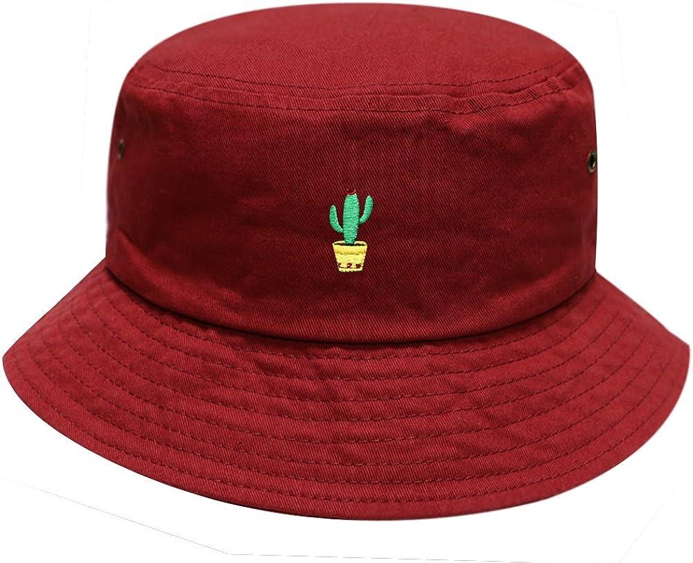 Multi Colors City Hunter Unisex Cute Cactus Cotton Summer Bucket Hat