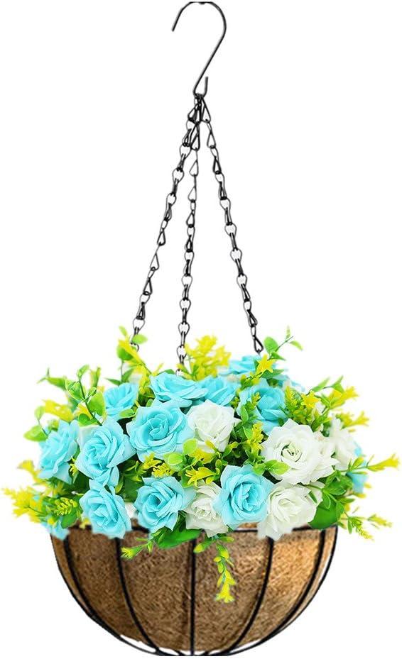 Mynse - Cesta de Flores Artificiales para Colgar en el hogar ...