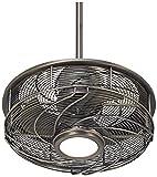 """17"""" Casa Vestige Antique Bronze Cage LED Ceiling Fan"""