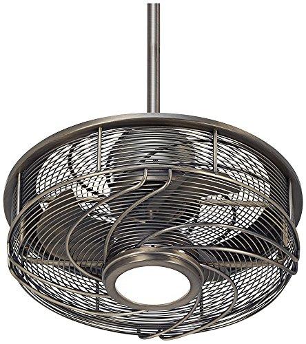 antique bronze fan - 3