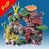 Instant Reef DM037PNP Artificial Coral Reef Aquarium Decor for Saltwater Fish, Marine Fish Tanks and Freshwater Fish Aquariums