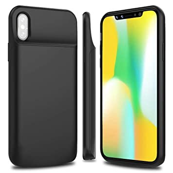 watch 36ee4 effb1 BrexLink iPhone X / 10 Battery Case, Portable Charger Case Rechargeable  Extended Battery Pack Protective Backup Charging Case Cover for Apple  iPhone X ...
