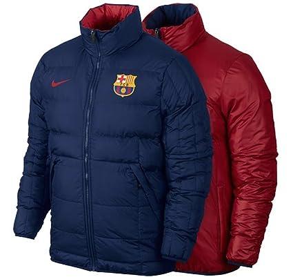 4270fda39879 Nike Men s Barcelona Reversible Core Padded Jacket (Small) Storm Red