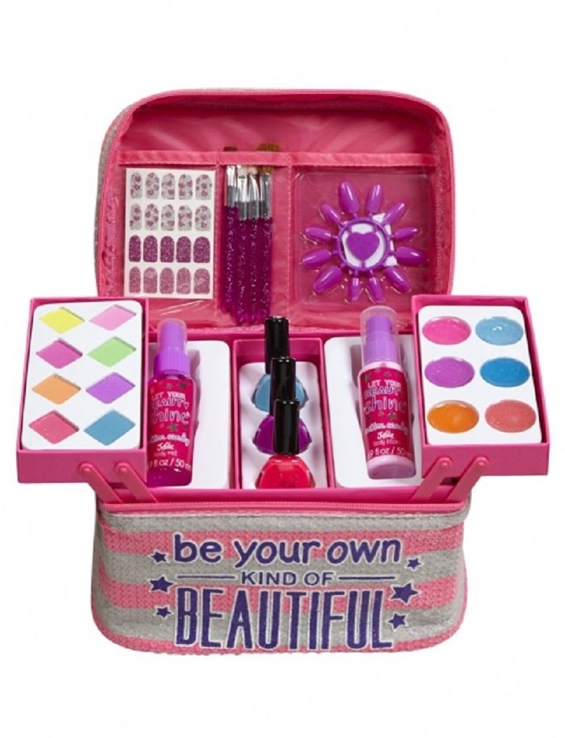 Amazon.com : Justice For Girls Beautiful Mega 55pc Make-Up Kit ...