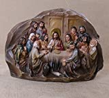 12-Inch Christmas Last Supper Tabletop Décor Resin Cameo Sculpture Statue Figure
