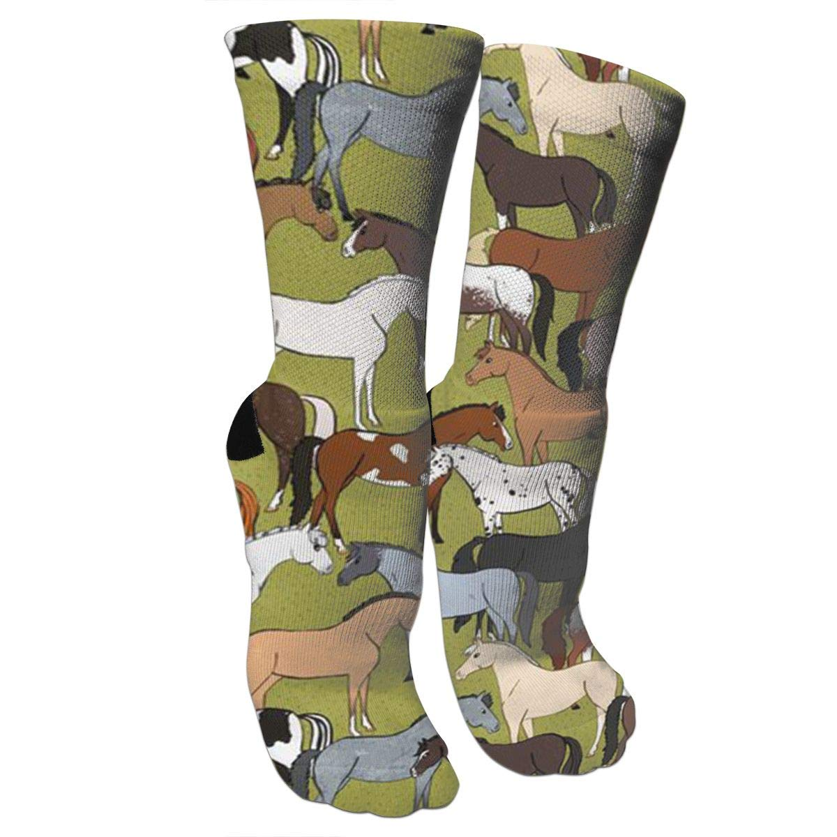 Colorful Cute Horse Casual Cotton Crew Socks Cute Funny Sock,great For Sports And Hiking