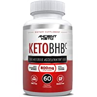 Keto BHB Capsules - Supports Ketosis, Immediate & Sustained Energy, Mental Clarity & Focus - Natural Source of Fuel and Accelerator for Ketosis - by Ancient Keto (60 Ct.)