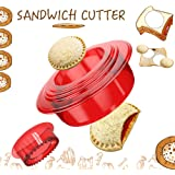 Tribe Glare Sandwich Cutter and Sealer - Uncrustables Maker - Sandwich Cutter for Kids - Sandwich Sealer and Decruster…