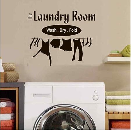 Sofocante arte etiqueta de la pared lavadora Creativo vinilo ...