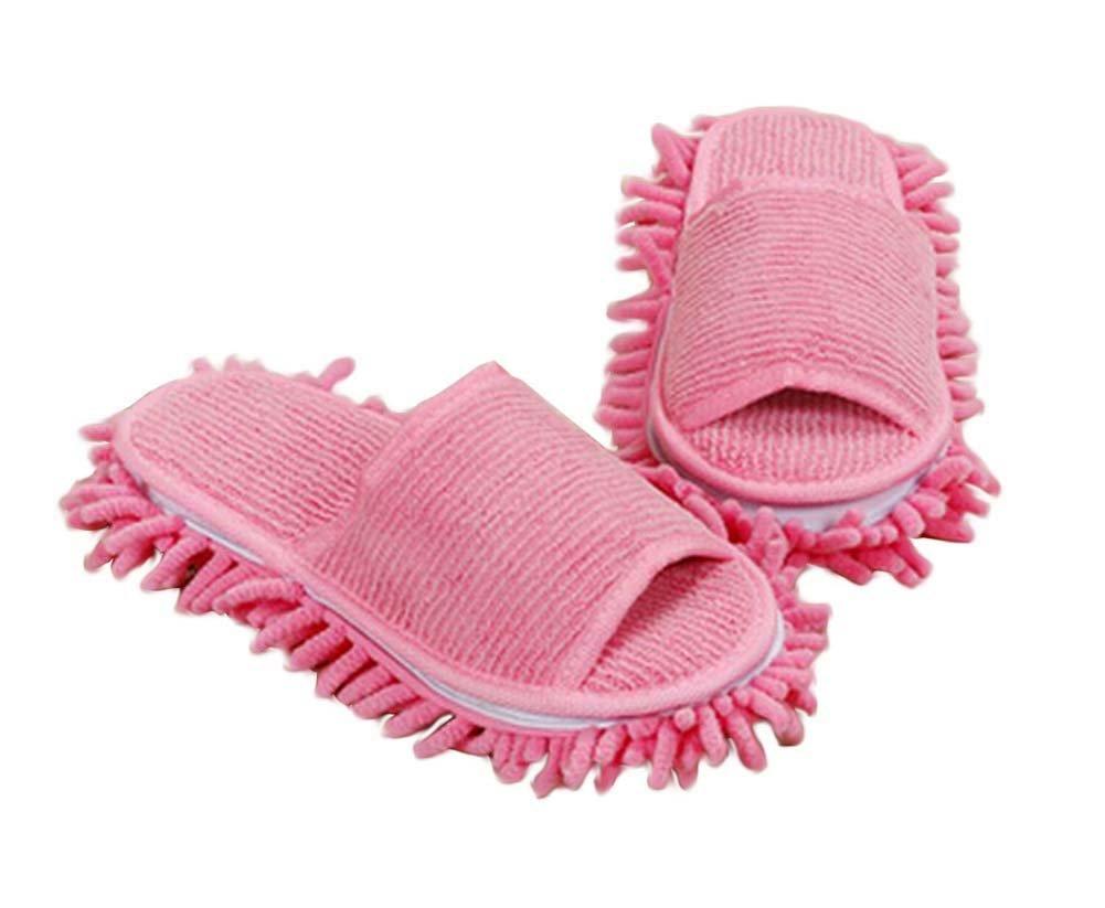 [Rosa] Kreative Abnehmbare Mopphefterzufuhren Bodenreinigung Mopping Schuhe Blancho Bedding