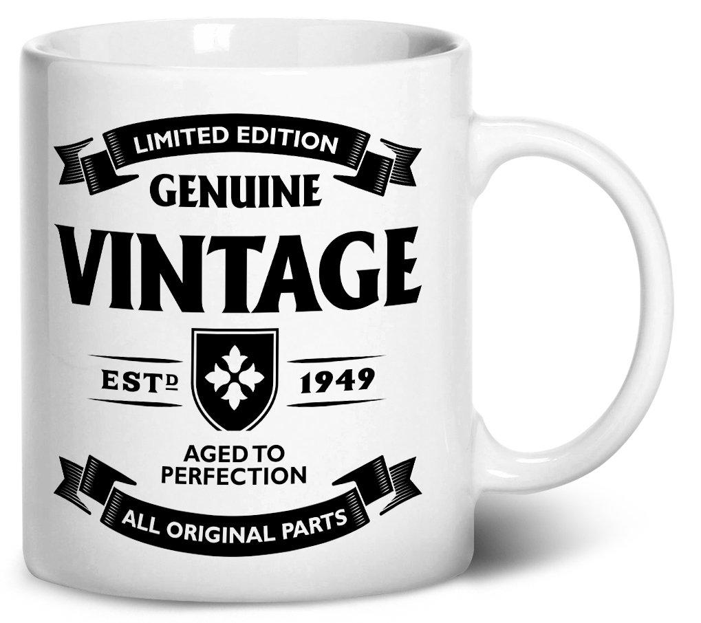 tenacitee Aged to Perfection – 1949コーヒーマグ、11オンス、ホワイト B0732V4H5T