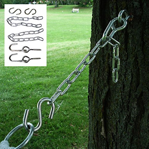 Hanging Kit Hammock 2 Eye Bolts 2 S Hooks 2 Chains 13'' Links Chains Tree Straps by na