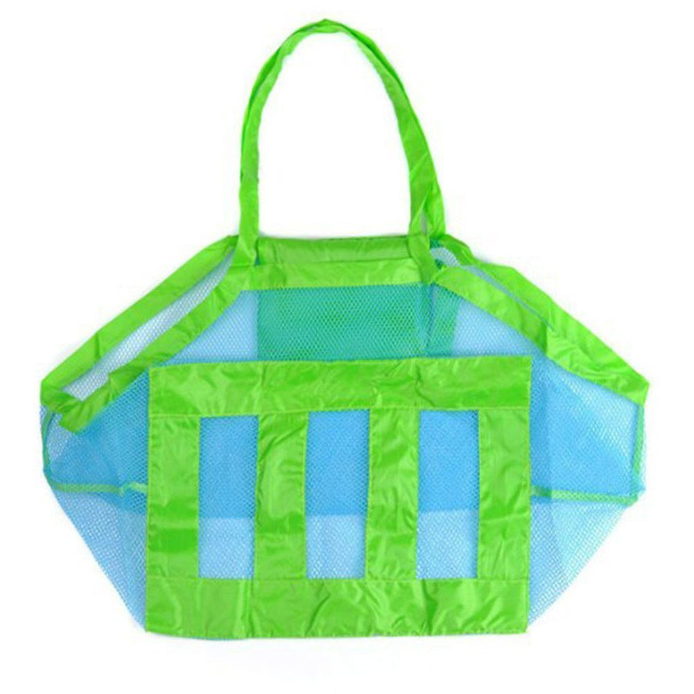 Hosaire Beach Mesh Bag Sandy Beach Shell Pouch Toy Storage Tote Sand Away Blue
