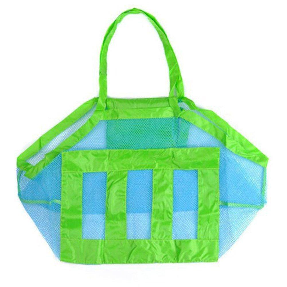 Leisial Bolsa de Almacenaje Organizaodr Juguetes de Playa Plegable Herramientas de Dragado de Malla para Niños,Color Verde 45*26*45cm X1602274L3K1106