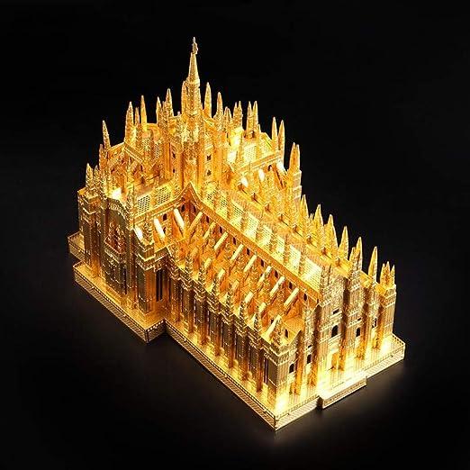 MQKZ Rompecabezas de Metal Tridimensional 3D / Catedral de Milán ...