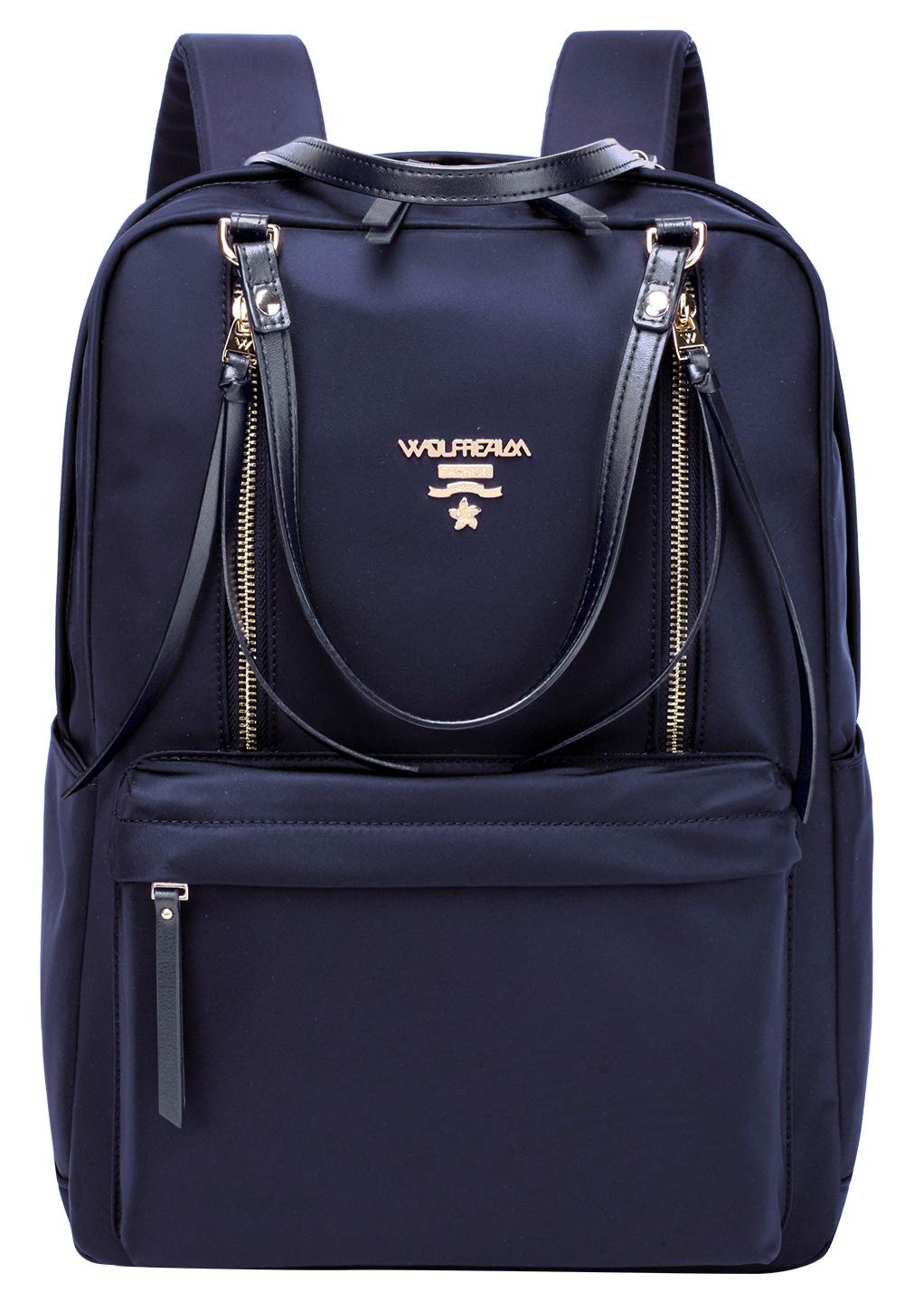 Wolfrealm Laptop Backpacks for Women Lightweight Business Backpack Purse Waterproof Travel Bags Fashion Ladies Notebook Bag,Blue 14.1 inches by Wolfrealm