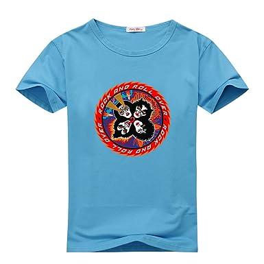 61861128672 James Possenniskie Little kids KISS Band Sky BLue T-shirts Size L(6Y ...