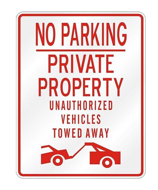 Teeburon propiedad privada prohibido aparcar Sign: Amazon.es ...