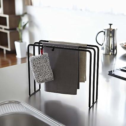 Oneyongs Freestanding 3-Tier Dish Towel Holder Towel Dryer Kitchen Utensils  Organizer for Kitchen Countertop Metal