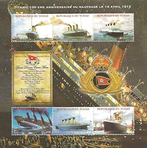 2012 Titanic 100th Anniversary - 6 Stamp Sheet F/VF MNH - 3B-202