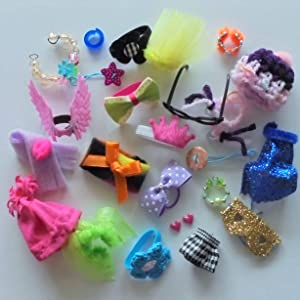 happyblockbuilder LPS Accessories Clothes Glasses Littlest Pet Shop Lot 6 Random Items in 1 Gift Bag Custom Outfit Pet NOT Included (Outfit 6pc.)