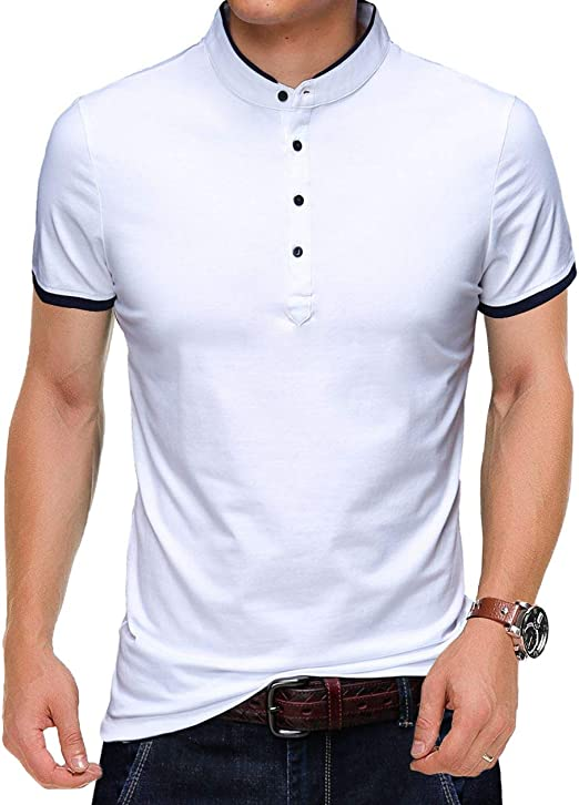 Large Size Summer Mens Short Sleeve Polo T Shirts 100/%Cotton Casual//Travel