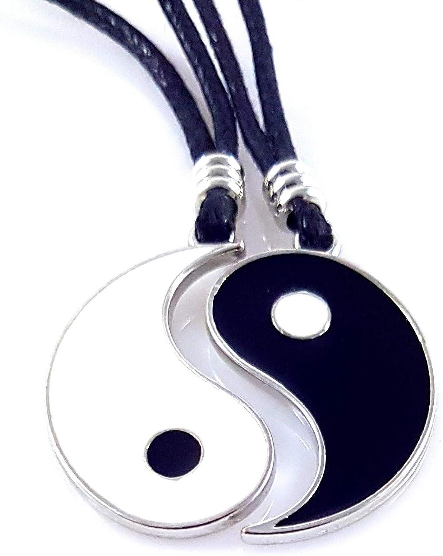 AKIEE Yin Yang Collier pour Hommes Femmes Gar/çons Filles R/églable Pendentif Taichi Collier Couple Meilleurs amis meilleurs amis