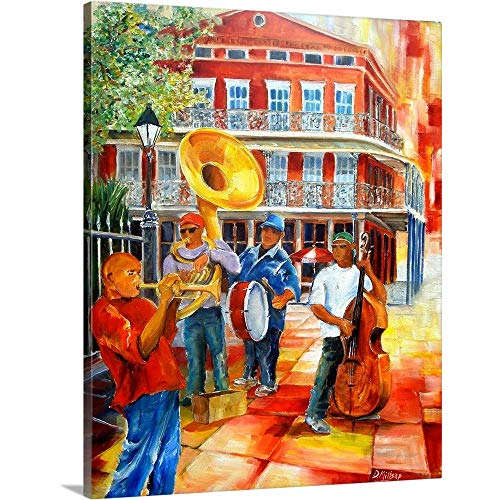 Jackson Square Brass Band Canvas Wall Art Print, 11