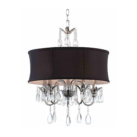 Black drum shade crystal chandelier pendant light ceiling pendant black drum shade crystal chandelier pendant light aloadofball Gallery