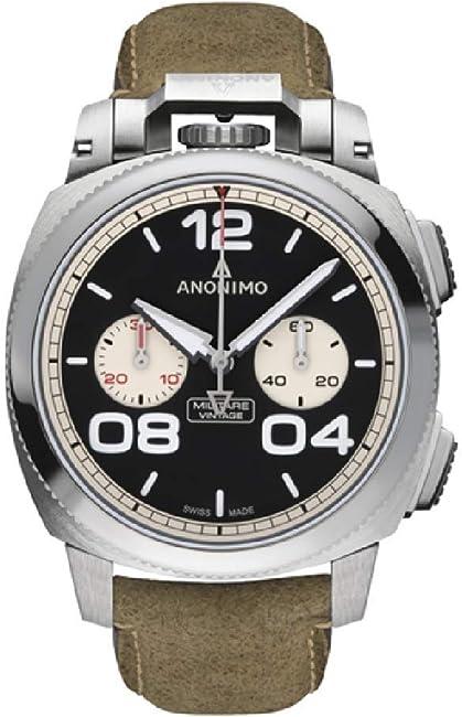 Anonimo militare orologio uomo analogico automatico con cinturino in pelle di vitello am112201002a21