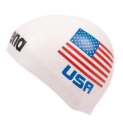 Arena Bonnet de bain 3D en silicone Drapeau national États-Unis–édition limitée États-Unis