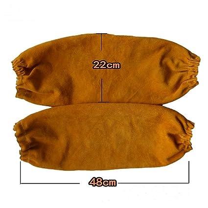 QEES DHST06 - Mangas de soldadura resistentes al calor, pesadas, 40,6 cm