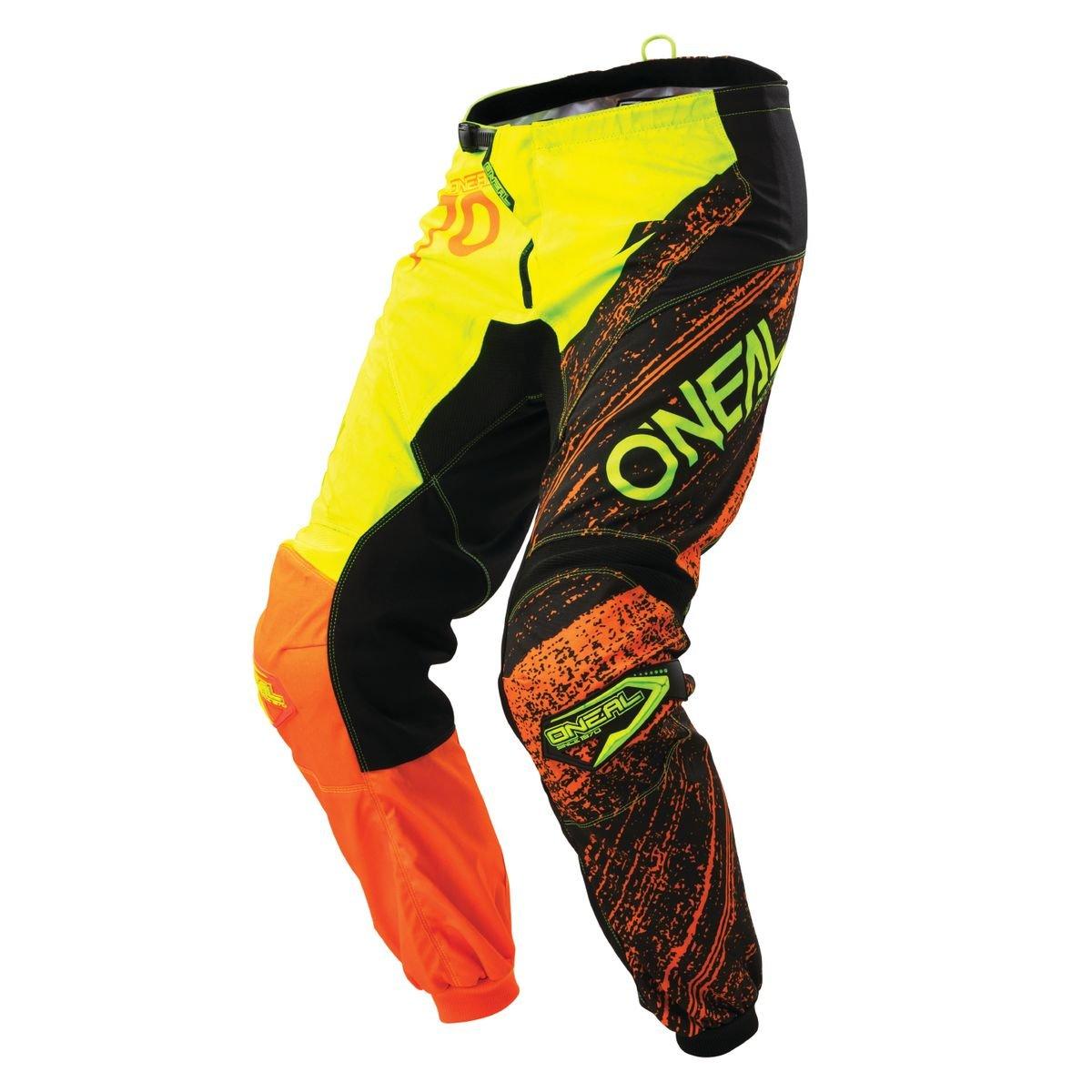 0108-964 - Oneal Element 2018 Burnout Motocross Pants 34 Black Hi-Viz Orange