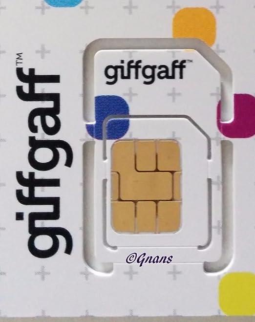 15 libre GiffGaff de crédito tarjeta SIM 3 G/4G Multi ...
