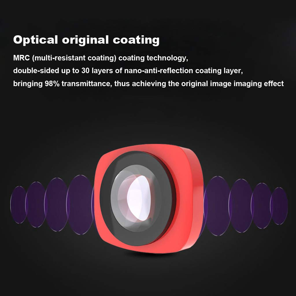 Camera Filter For DJI OSMO Pocket 3 in1 CR Wide Angle + 12.5X + CPL PTZ Camera 3pc Lens Filters Aluminum-alloy Helicopter Accessories (red) by lkoezi- Camera Filter (Image #6)