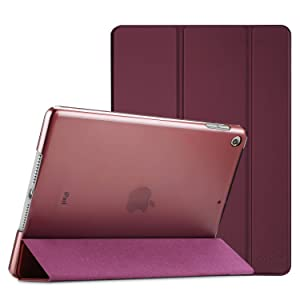 ProCase iPad 10.2 Case 2019 iPad 7th Generation Case, Slim Stand Hard Back Shell Protective Smart Cover Case for iPad 7th Gen 10.2 Inch 2019 (A2197 A2198 A2200) -Wine