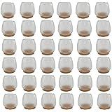 YCNK 36pcs Transparent 16-20 mm Calibre Ronde Bas Rond Ouverture Chaise Cache-jambes Caoutchouc Pieds Protecteur Coussins Mobilier Table Couvertures