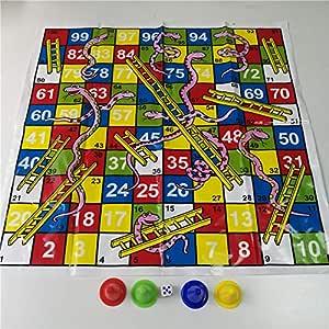 Dorime Serpiente de Escalera y Vuelo ajedrez Juego de Mesa jogos Juegos oyun Juegos de Sociedad de la Familia Juguetes para los niños Adultos: Amazon.es: Hogar