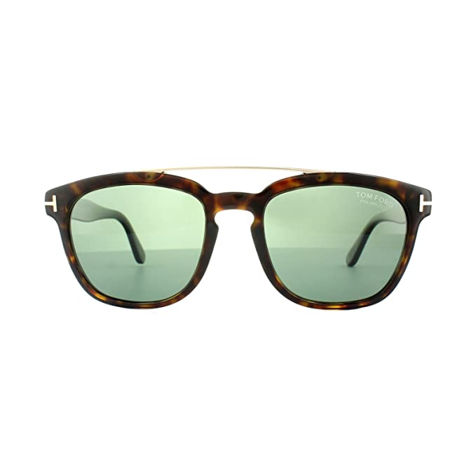 c4631d1872 Tom Ford Sunglasses 0516 Holt 52R Dark Havana Green Polarized at Amazon  Men s Clothing store