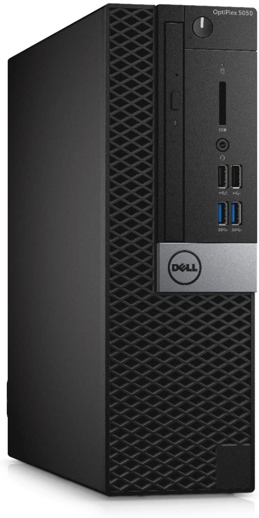 Dell 9PR6V OptiPlex 5050 Small Form Factor Desktop, Intel Core i7-7700, 8GB RAM, 500GB HDD, Black