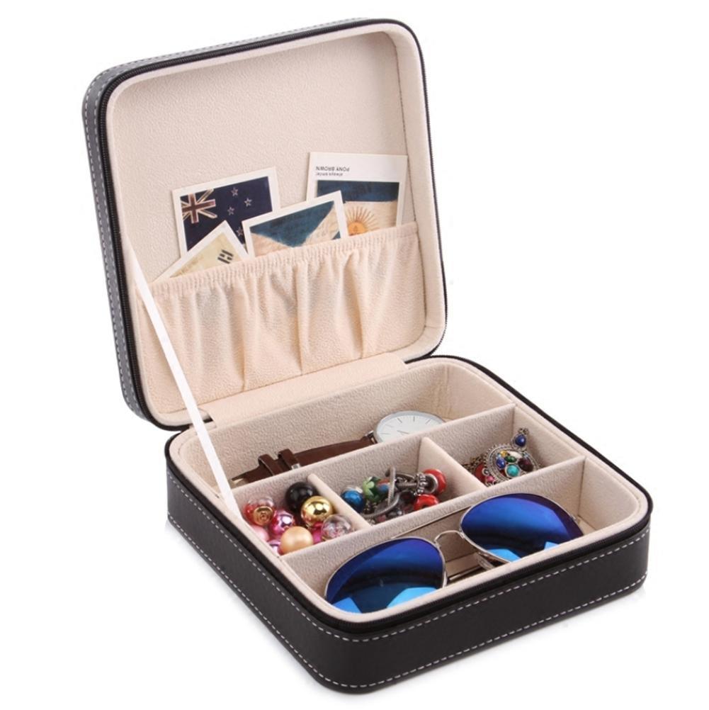 AMYMGLL Gafas de almacenamiento de 3 dígitos caja de almacenamiento de gafas de cuero caja de almacenamiento gafas de luz de almacenamiento y caja de joyería de Otoño , a