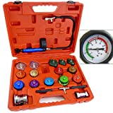 ARKSEN Radiator Cap Pressure Tester Cooling System Pressurizing Universal, Red