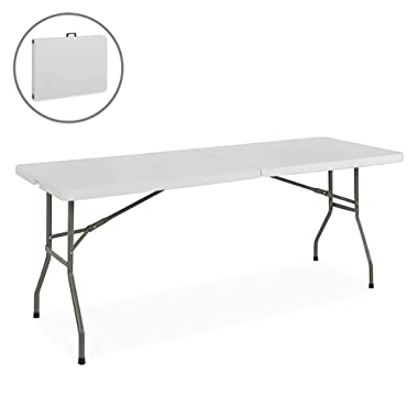 Best ChoiceProducts Folding Table Portable Plastic Indoor Outdoor Picnic Party Dining Camp Tables, 6'