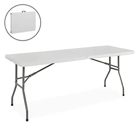 Remarkable Best Choice Products Portable 6 Foot Folding Utility Table White Squirreltailoven Fun Painted Chair Ideas Images Squirreltailovenorg