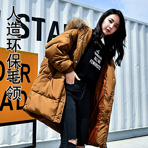 Jacket Of Type The Autumn Down Loose Hair Big Large And Size Women Section Caramel Xuanku Winter Hats Collar Long nbsp;A 4952 nbsp;Word In HYZqYx