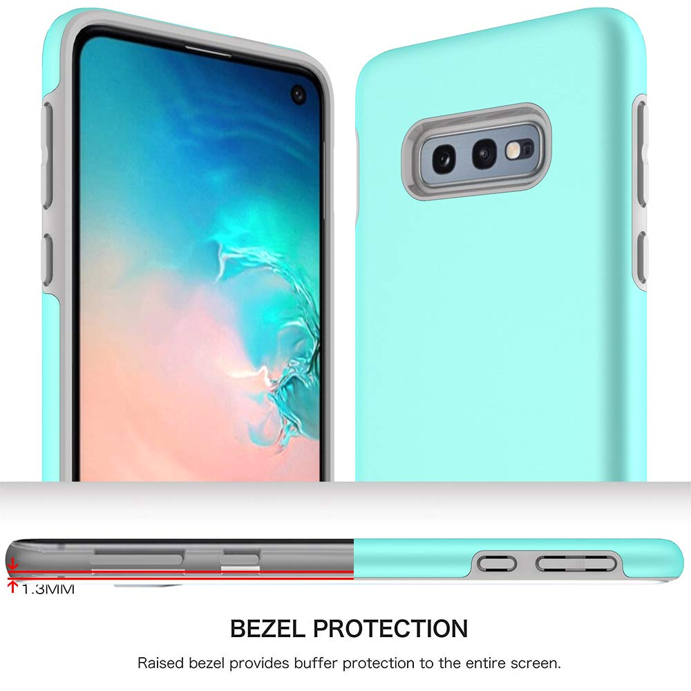 Samsung Galaxy S10e Case, Androgate [Pearl Series] Hybrid Matte Protective Back Cover Bumper Case, Mint Green